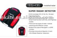 free shipment,Radar Detectors RD06 Radar Detectors X,K,KA,KU laser operating bands protection support russian voice speaker