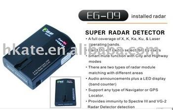 free shipment,Radar Detectors RD09 Radar Detectors X,K,KA,KU laser operating bands protection support