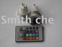 Dimmable GU10 3W RGB LED Bulb Light Lamp 16 Color Change w/Remote Control ac 85v-240V
