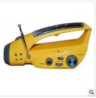 Free shipping+ 10pcs Solar Radio, Dynamo Radio / solar phone charger / LED Flashlight and alarm