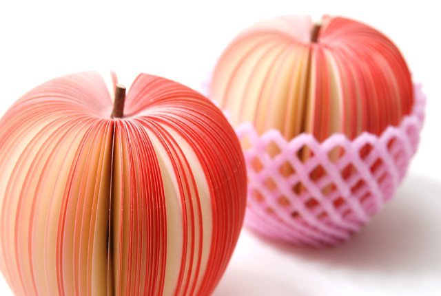 Free shipping,Red apple Notepad,Fruit Sticky Note,Fruit Memo pad, NEW Fruit Notepad,Wholesale price 25pieces/lot(China (Mainland))