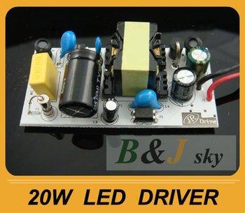 Power Driver For 20W  20 Watt LED Light Lamp Bulb DIY, Input AC 110v-260V for All Colors DIY