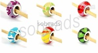 Bulk murano glass beads lampwork beads300pcs 6 color FIT mix /different designs
