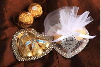 Free Shipping 50pcs/lot Heart Shape Wedding Candy Plate/Wedding Gifts Packing/Wedding Favors/Chocolate Packing