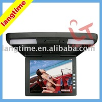 11.3 inch car roof mount/flip down lcd monitor-45 degree revolve with ir