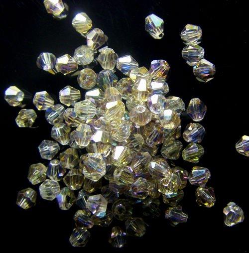 FRETE GRÁTIS! Atacado pulseira 4 * 4MM grânulos de cristal DIY colar de jóias(China (Mainland))