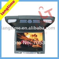 14 inch car roof mount/flip down lcd monitor 16:9 digital panel,