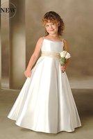Free Shipping New Coming Cheaper FL069 High-quality satin Lovely Flower Girl Dress