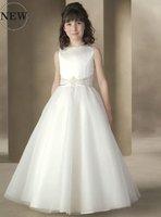 Free Shipping New Coming Cheaper FL076 High-quality satin Lovely Flower Girl Dress
