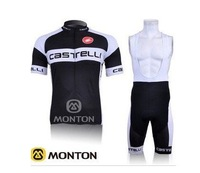 CASTELLI team 100% Polyester +pad COOLMAX+2010 Magnus Maximus Coffee cycling clothing /bicycle wear short sleeve jersey