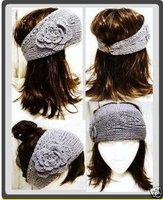 Lady headband free shipping hot sale fashion newest -Handmade knitted headband& Flower headbands (50pcs moq) mix color