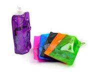 50pcs/lot NEW Portable sport   480ml folding water bottle 6 colour