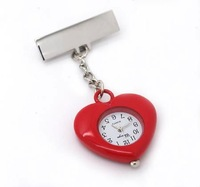 Free ship fee Charms RED Heart Pendants Quartz Nurse Watch For doctor girl nurse Angell gift Watch K74