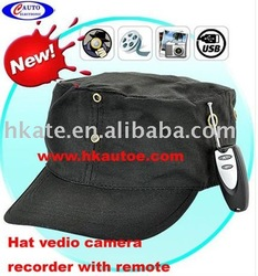 free shipping 2011 New Hat Video Camera recorder + DVR AVP010A(Hong Kong)