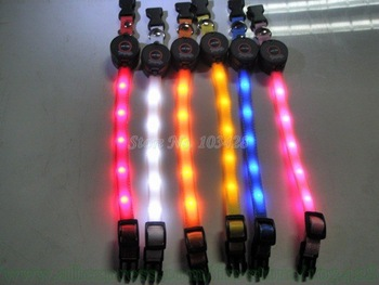New Flashing Dog Collars Light Up Led Pet Collar Colorful 12mm Width Small Dog Collar-6pcs Pack