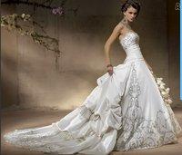 2011 hotsale Satin White Ivory Wedding Dress A001