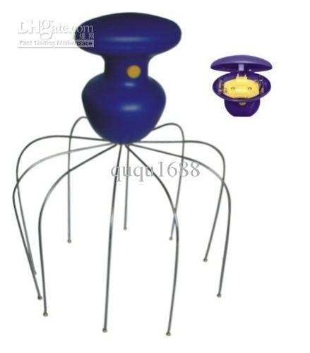 6038# Free Shipping Electric Scalp Massager 30pcs/lot Electric Vibrating Massager Battery Operated(China (Mainland))