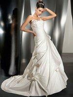 Wow, Fashion spaghetti Strap chapel elegant wedding dress A005