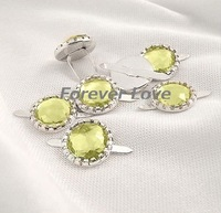 FREE SHIPPING--CITRINE 50PCS NEW Diamante Brad Wedding Stationary Favor Craft