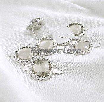 FREE SHIPPING -- WHITE 50PCS NEW Diamante Brad Wedding Stationary Favor Craft