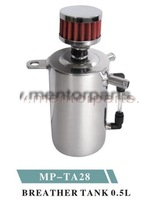 UNIVERSAL OIL CATCH CAN TANK WITH BREATHER FILTER ,MP-TA28 0.5L