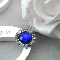 FREE SHIPPING -- 10PCS D-BLUE  new arrival A-Grade Rhinestone Circle Diamante Cluster Craft DIY