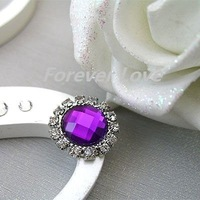 FREE SHIPPING -- PURPLE new arrival A-Grade Rhinestone Circle Diamante Cluster Craft DIY