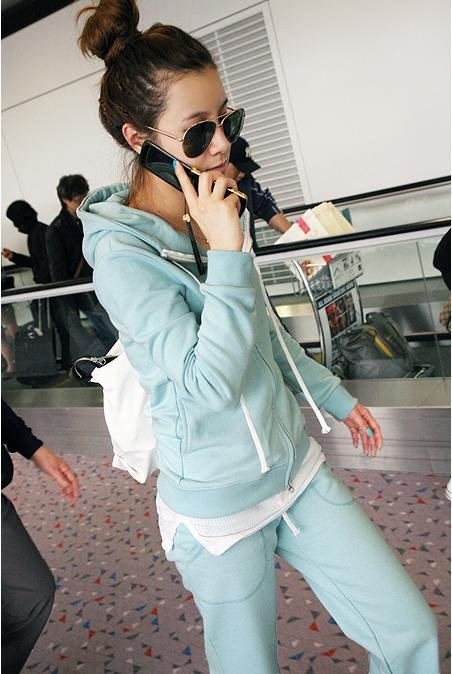Spring Summer casual cotton new Korean Hooded sweater coat hot female models track suit clearance(China (Mainland))
