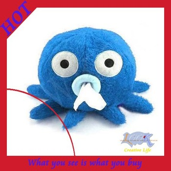 Free Shipping! 15pcs/lot NEW 100% Velvet Fabric Octopus Tissue Pumping Box Wholesale & Retail