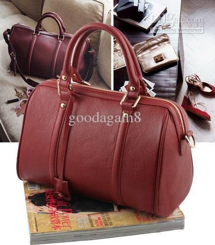 hot items brand new women's Sofia Coppola Boston wine red handbag Tote Bags(China (Mainland))