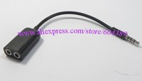 FREE SHIPPING black 3.5mm Audio Splitter Cable for iphone for ipod ipad