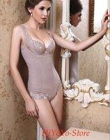 Lady Body Shaper/Fashion Woman Shapers/Sexy Glamorous One-piece Shapewear with lace 20pcs/lot+free shipping