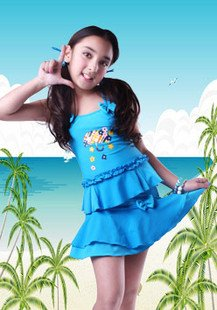 FREE SHIPPING 5-12 YEARS OLD GIRLS SWIMWEAR SWIMSUIT SET CHILDREN SWIMWEAR KIDS BEACHWEAR BATHING SUIT