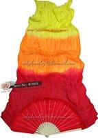 Free Shipping Dance Fan Veil Belly Dance Silk Fan Veil Silk 3 Colors Fan Veil 12pcs/lot