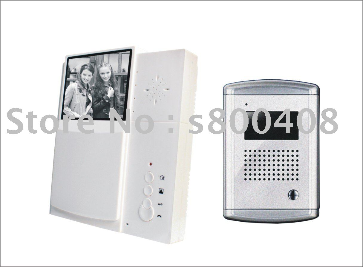 5pcs per lot Nightvision BW Video Door Phone with metal cameraV3B-S(China (Mainland))