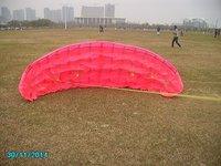 10sqm 4 line power kite+carbon bar with 500m dybeema line   snow kite  train kite foil kite