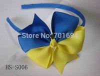 baby girl grosgrain ribbon covered headband with hair bow 60pcs/lot