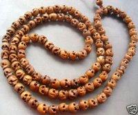 Charming tibet Buddhist 108 Skull bone Beads Mala Necklace shipping free