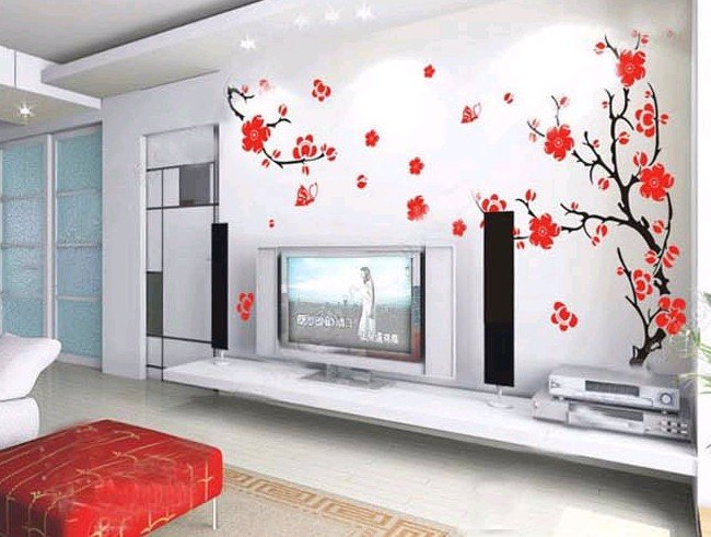 Wallpaper For Living Room Wall Part - 22: Great Living Room Wall Stickers 650 X 491 · 69 KB · Jpeg
