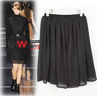Sexy new style wholesale price women's Chiffon long loose Skorts skirts fit O collar color Pink XL XXL XXXL SW001