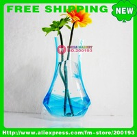FREE SHIPPING 100PCS/LOT ASSORTED COLOR&amp;amp;STYLE 2011 HOT NEW PRODUCTS USED PROMOTIONAL GIFT B5-4 FOLDABLE PLASTIC VASES FOR FLOWER