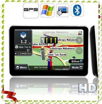 Free Shipping GPS tracker nevigator Bluetooth 5 ' HD Touch Screen (Direct WIN CE Access)