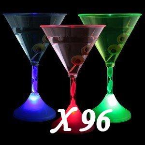 Wholesale 96 Light up LED Flashing Margarita,Wine, Multi-lightup Martini Cup(China (Mainland))