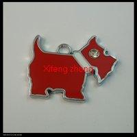 100 pcs/lot Free shipping enamel alloy charms(scottie dog)