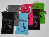 Free shipping,Hello Kitty mobile phone pouch,cartoon mobile phone bag,hanging mobile phone pouch