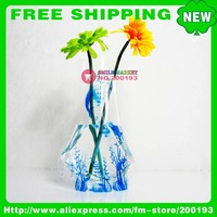 FREE SHIPPING 100PCS/LOT ASSORTED COLOR&amp;amp;STYLE MORE THAN 150 STYLES B10-2 PLASTIC FOLDABLE VASE 2011 HOME ACCESSORIES DECORATION