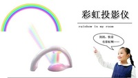 DHL Free shipping  2011 Hot sale Holiday gift Stonepalette Rainbow Light Rainbow Projector mini led light