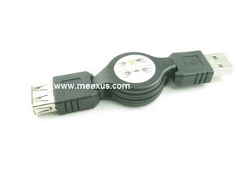 Free shipping -- High quality retractable usb male to female extension cable 50pcs/lot