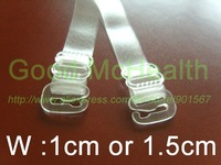 50 pairs / lot clear bra strap 1.5 cm wide cleavage clips bra straps extender free shipping