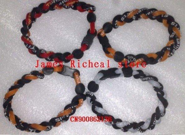 frete grátis 3 corda pulseira, 3 cordas trançada pulseira, germânio& titanium colares 50pcs/lot(China (Mainland))